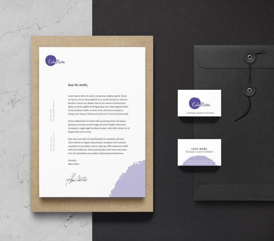 Cate_More_Branding Identity MockUp Vol16