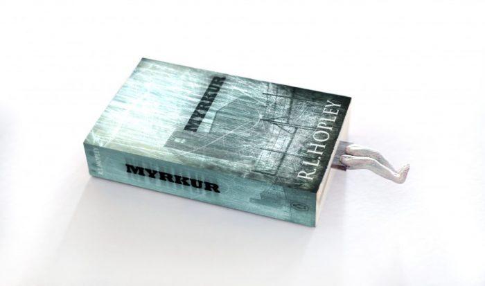 myrkur - horror mystery novel, cover design - promotional bookmark